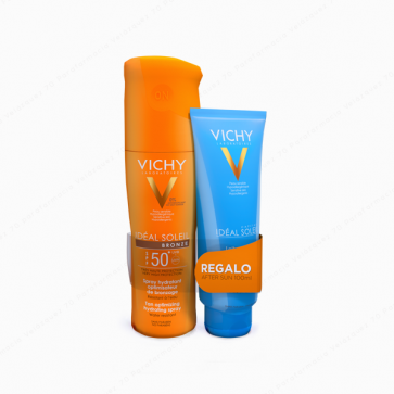 VICHY Ideal Soleil Spray Bronze SPF 50 200 ml + REGALO After Sun 100 ml