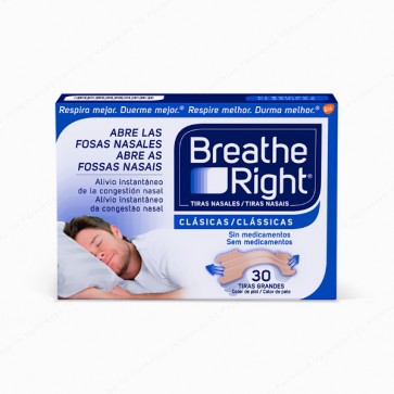 Breathe Right® Clásicas Tiras Grandes - 30 unidades