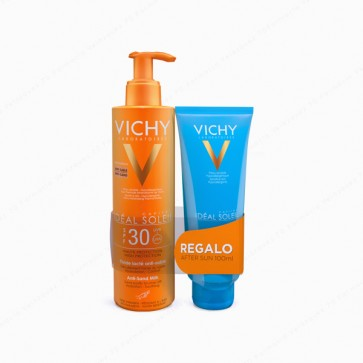 VICHY Ideal Soleil Leche Solar Anti-arena SPF 30 200 ml + REGALO After Sun 100 ml