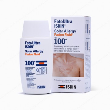 Foto Ultra ISDIN Solar Allergy Fusion Fluid SPF 100+ - 50 ml