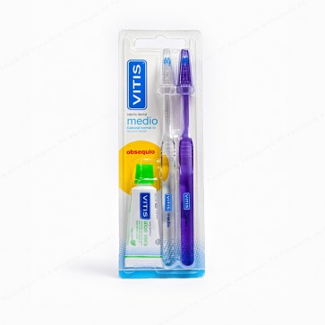 VITIS® medio DUPLO + REGALO Pasta Dentífrica 15 ml