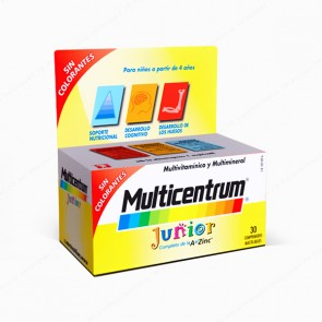 Multicentrum® Junior - 30 comprimidos masticables