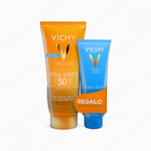 VICHY Ideal Soleil Gel ultra fundente SPF 50 200 ml + REGALO After Sun 100 ml