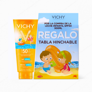 VICHY Ideal Soleil Leche Niños SPF 50 - 300 ml + REGALO Tabla Hinchable