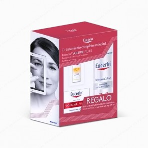 Eucerin® Volume-Filler Crema de Día para piel normal o mixta 50 ml + REGALO DermatoCLEAN 3 in 1 + Sun Fluid Anti-Age SPF 50