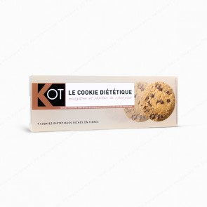 KOT Cookies nougatine con pepitas de chocolate - 9 galletas