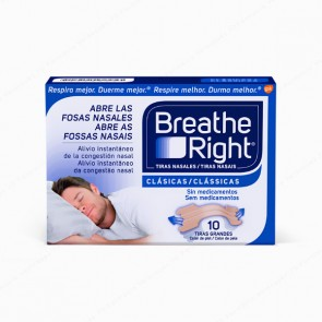 Breathe Right® Clásicas Tiras Grandes - 10 unidades