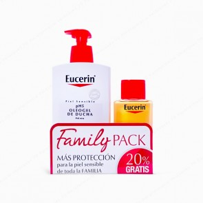 Eucerin® Family Pack pH5 Skin-Protection Oleogel de Ducha 1L + 200 ml GRATIS