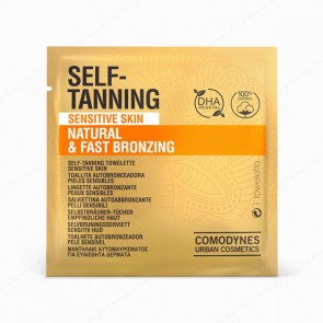 COMODYNES SELF-TANNING Sensitive Skin Natural & Fast Bronzing - 8 toallitas