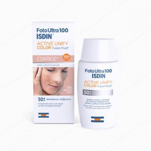 Foto Ultra 100 ISDIN Active Unify COLOR Fusion Fluid SPF 100+ - 50 ml