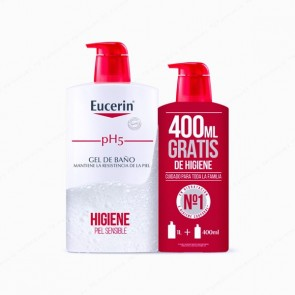 Eucerin® pH5 Skin-Protection Gel de Baño 1L + 400 ml