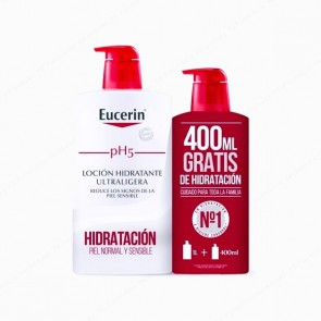 Eucerin® pH5 Skin-Protection Loción Hidratante Ultraligera 1L + 400 ml
