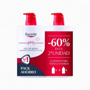 Eucerin® pH5 Skin-Protection Gel de Baño - DUPLO 2 x 1L
