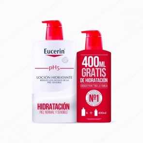 Eucerin® pH5 Skin-Protection Loción Hidratante 1L + 400 ml