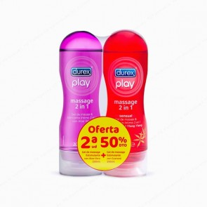 DUREX Play Massage 2 en 1 Aloe Vera + Sensual - DUPLO 2 x 200 ml