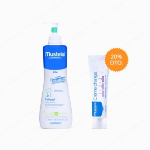 Mustela Pack Ahorro Babygel 750 ml + Crema bálsamo 1 2 3 100 ml