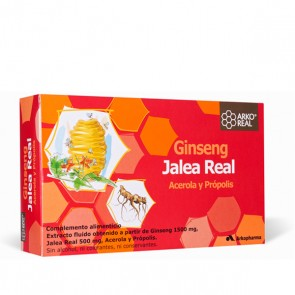 ARKO REAL Jalea Real & Ginseng - 20 ampollas