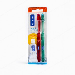 VITIS® medio acces DUPLO + REGALO Pasta Dentífrica 15 ml
