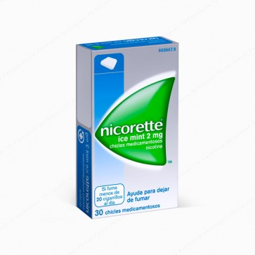 Nicorette® Ice Mint 2 mg - 30 chicles medicamentosos