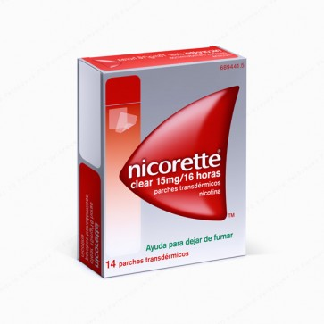 Nicorette® Clear 15 mg / 16 horas - 14 parches transdérmicos