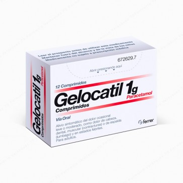 Gelocatil 1 g - 12 comprimidos
