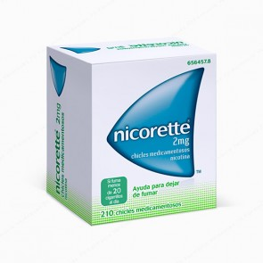 Nicorette® 2 mg - 210 chicles medicamentosos