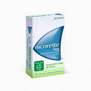 Nicorette® 4 mg - 30 chicles medicamentosos