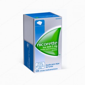 Nicorette® Ice Mint 2 mg - 105 chicles medicamentosos