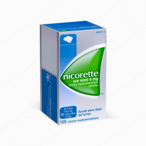 Nicorette® Ice Mint 4 mg - 105 chicles medicamentosos