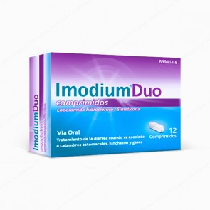 Imodium® Duo 2 mg / 125 mg - 12 comprimidos