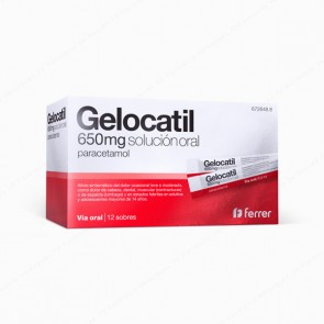 Gelocatil 650 mg solución oral - 12 sobres